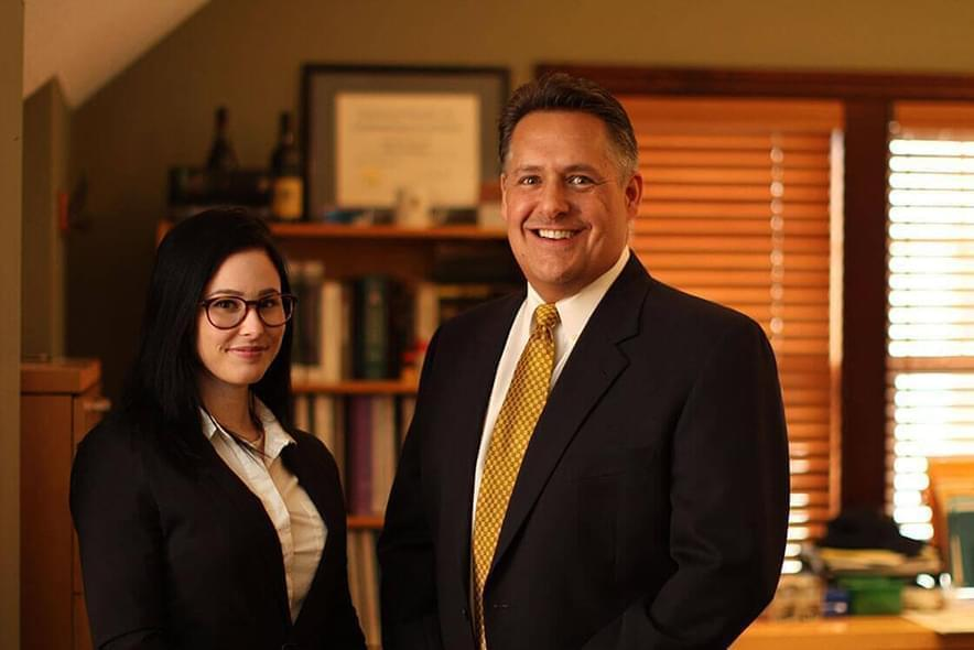 Attorney C. J. Kishish II and Legal Assistant